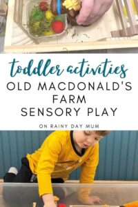 old macdonalds farm sensory play for toddlers
