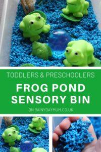 Toddler and Preschool Frog Pond Sensory Bin