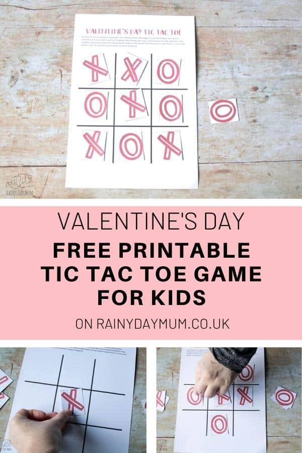 Valentine's Day Free Printable Tic Tac Toe Game for Kids