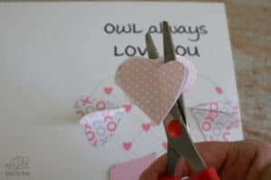 make the hearts for the beak and for the feet smaller