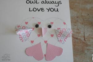 owl will always love you valentines card with 3d hearts