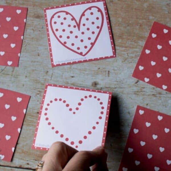 Valentine's Themed Memory Game for Kids