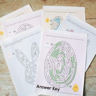 Easter Printable Shape Mazes