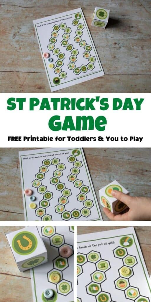 St Patrick's Day Game free printable for toddlers and you to play