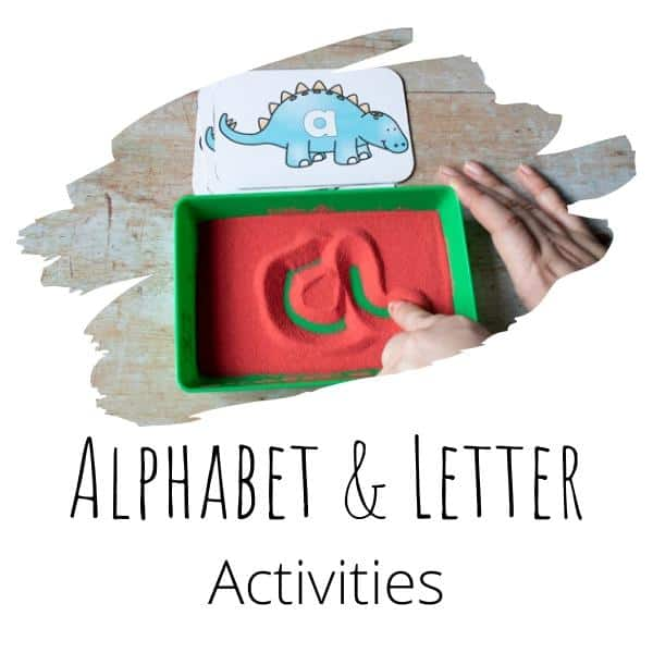 alphabet and letter activities for toddlers and preschoolers