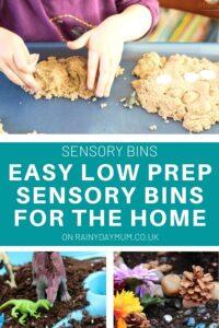easy low prep sensory bins for the home