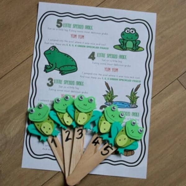 Five Little Speckled Frog FREE Printable Nursery Rhyme Words