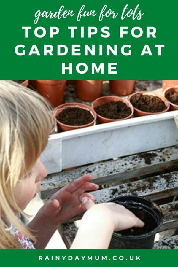 Top tips for gardening at home with toddlers