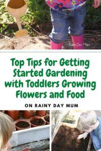Toddlers gardening collage