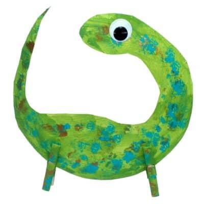 Balancing Dinosaur Paper Plate Craft ~ STEM Activity for Kids