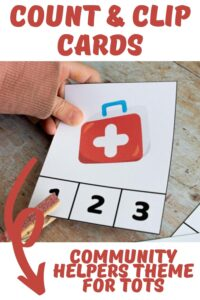 count and clip cards community helpers theme for tots