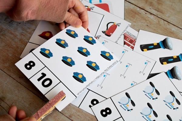 count and clip cards for the emergency service full set