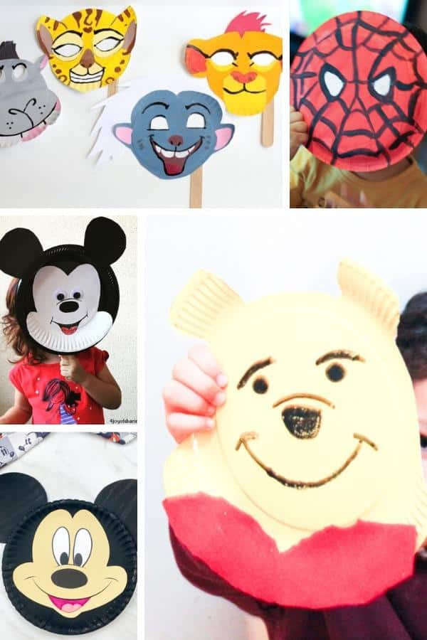 simple disney crafts with paper plates for kids