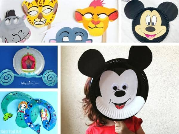 easy paper plate disney crafts for kids