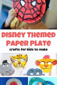 Disney Themed Paper Plate Crafts for Kids
