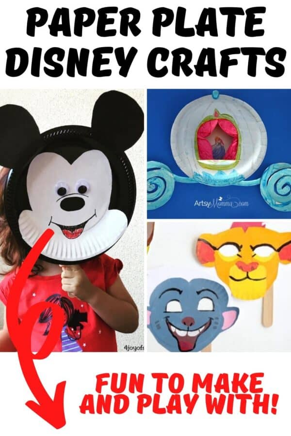 Paper Plate Disney Crafts fun to make and play with