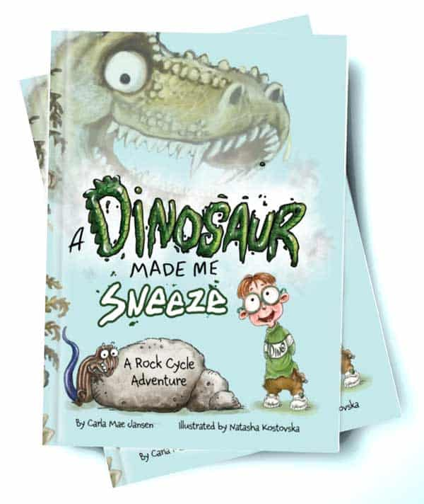 a dinosaur made me sneeze rock science book for kids