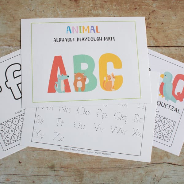 animal alphabet playdough mats pack for toddlers and preschoolers