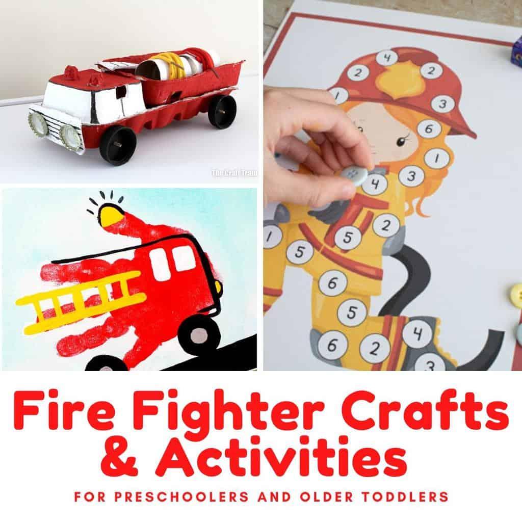 Fun Firefighter Crafts And Activities For Preschoolers
