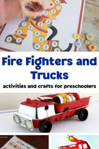 firefighters and truck themed activities and crafts collage for preschoolers