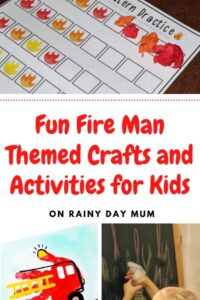 Fun Fireman themed crafts and activities for kids