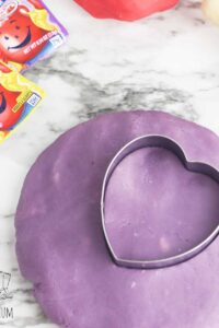 homemade grape scented purple kool-aid playdough for sensory play