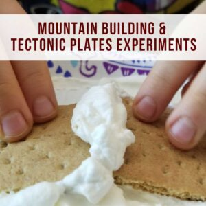 edible science experiment for kids to show how tectonic plates build mountains and valleys