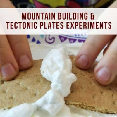 Edible Mountain Building Tectonic Plates Experiments for Kids