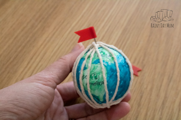 learning about lines of latitude and longitude with a DIY globe