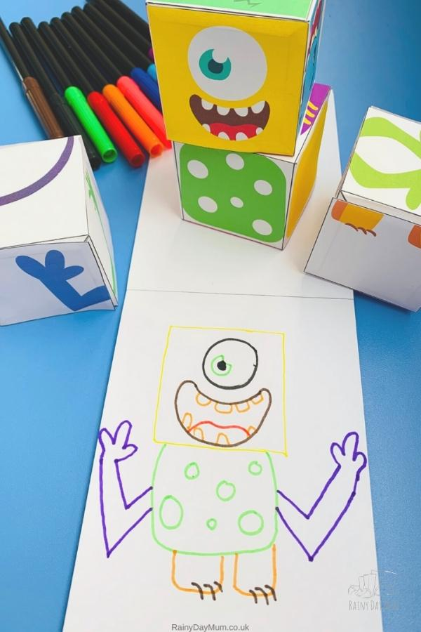 crazy monster from the blocks a silly halloween consequence game that kids and you can play
