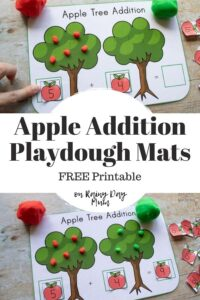apple addition play dough mats free printable pinterest graphic