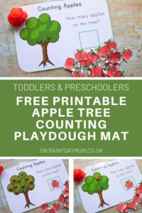 toddler and preschool apple counting mats free printable