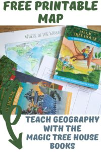 Free Printable Magic Tree House Book Series Map