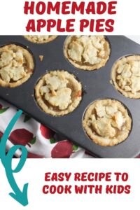 homemade apple pies to cook with kids pin