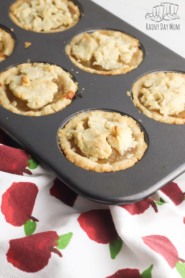 apple pies in a muffin tin - easy recipe to bake with kids this fall