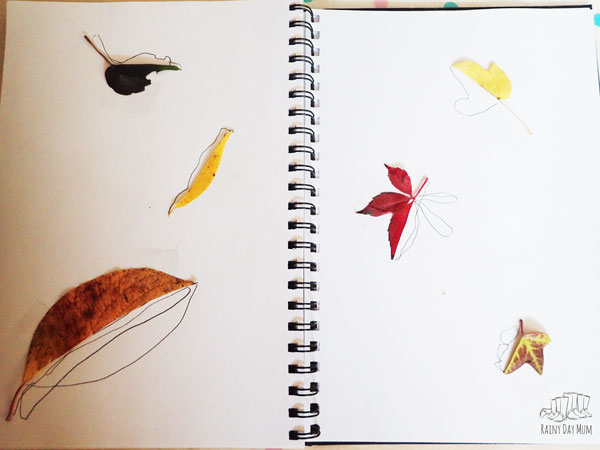 preschoolers leaf art project