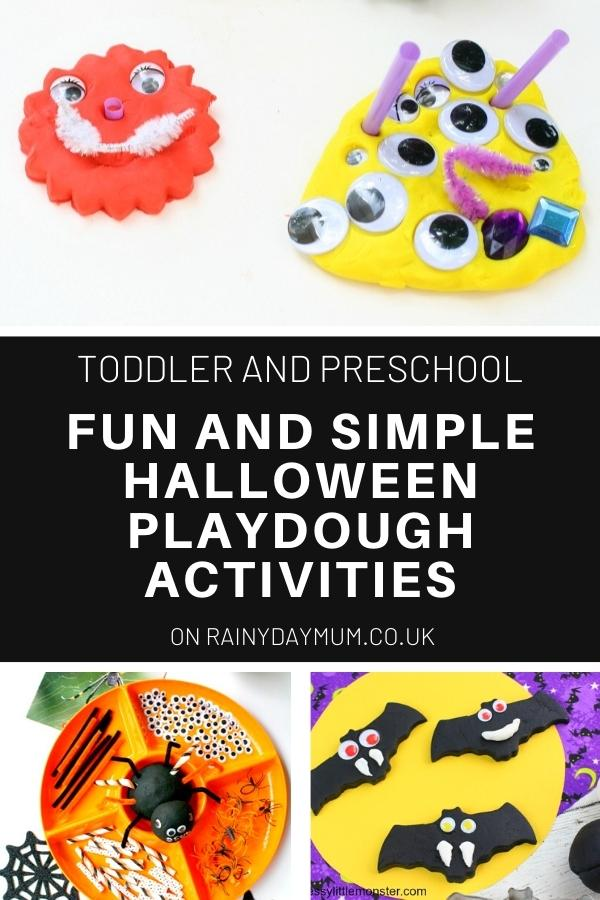 Halloween playdough Activities and ideas collage