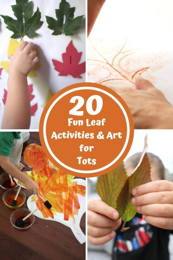 4 different simple activities showcased to do with tots at home