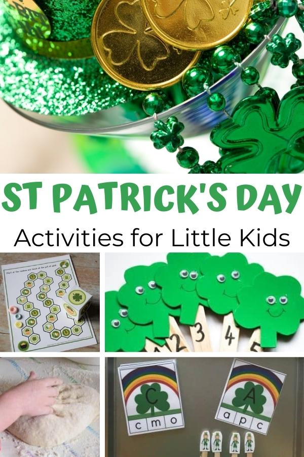 St Patrick's Day Activities for Little Kids pinterest image from Rainy Day Mum