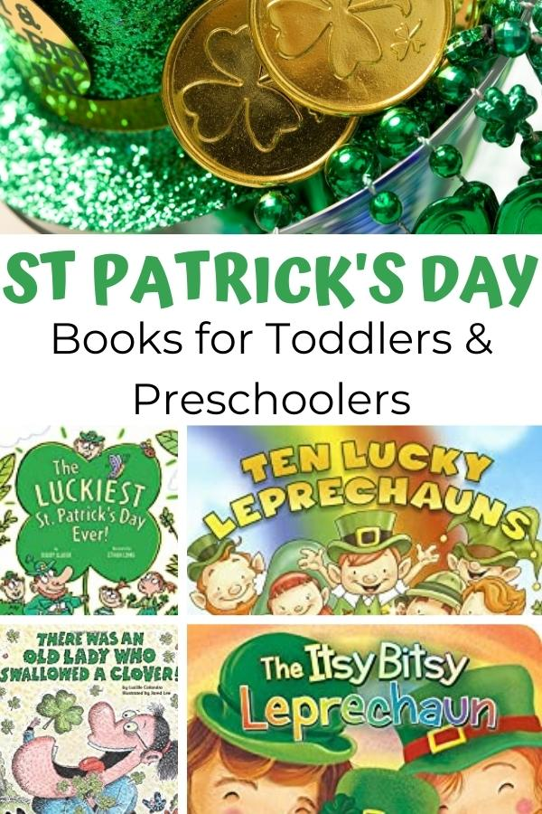 St Patrick's Day Books for Toddlers and Preschoolers Pinnable image