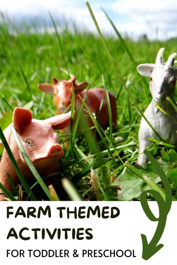 Farm Themed Activities for Toddlers and Preschooler with toy farm animals