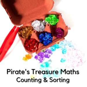 pirate treasure chest sorting and counting game for preschoolers