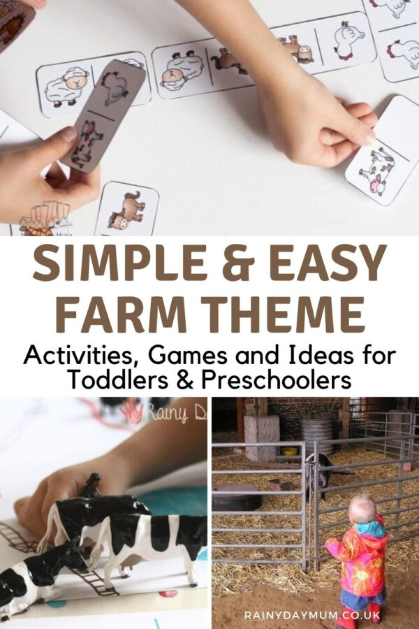 Simple and Easy Farm Animal Activities, Games and Ideas for Toddlers and Preschoolers domino, toy counting and visiting a farm
