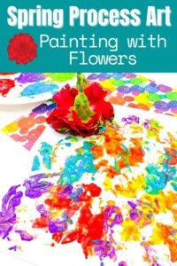 Spring Process Art Painting with Flowers Pinnable image from Rainy Day Mum