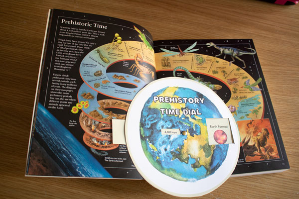 pages 12 and 13 from Usborne Encyclopedia of World History to go with the time dial