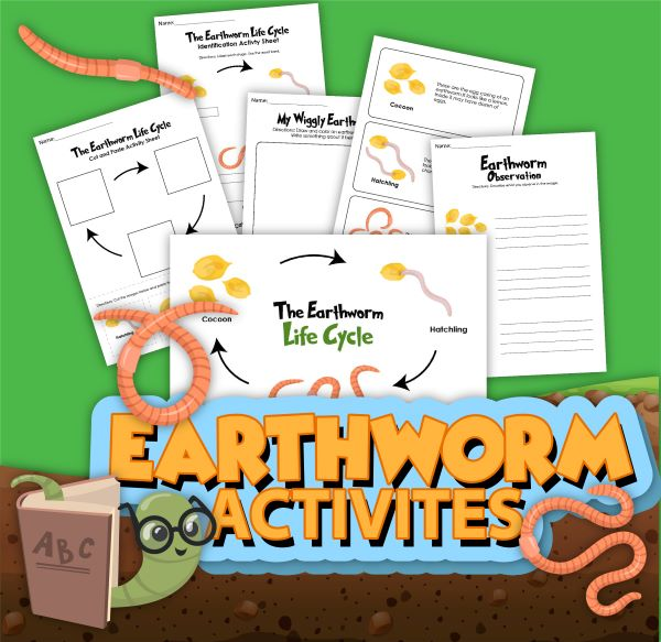 printable pack from Rainy Day Mum all about Earth Worms, contains journalling page to go along with creating a wormery