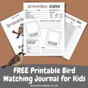 FREE Printable Bird Watching Journal for Kids