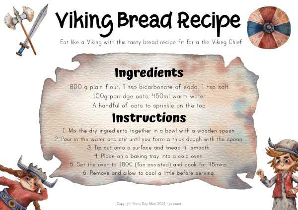 Viking Bread Recipe Printable