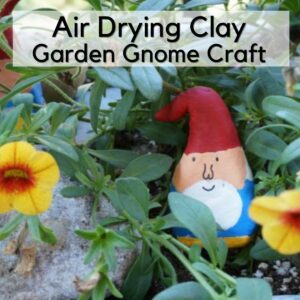 Super-Cute Air-Drying Clay Garden Gnomes Craft for Kids to Make