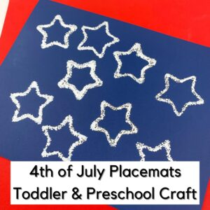 Patriotic Star Printed Placemat Craft for Toddlers and Preschoolers